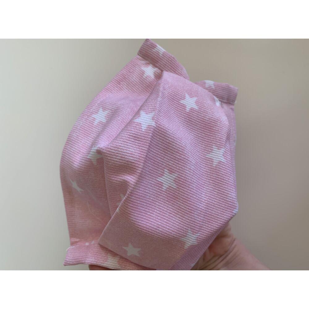 Gyerek sterilizálható, mosható szájmaszk - fehér csillagos