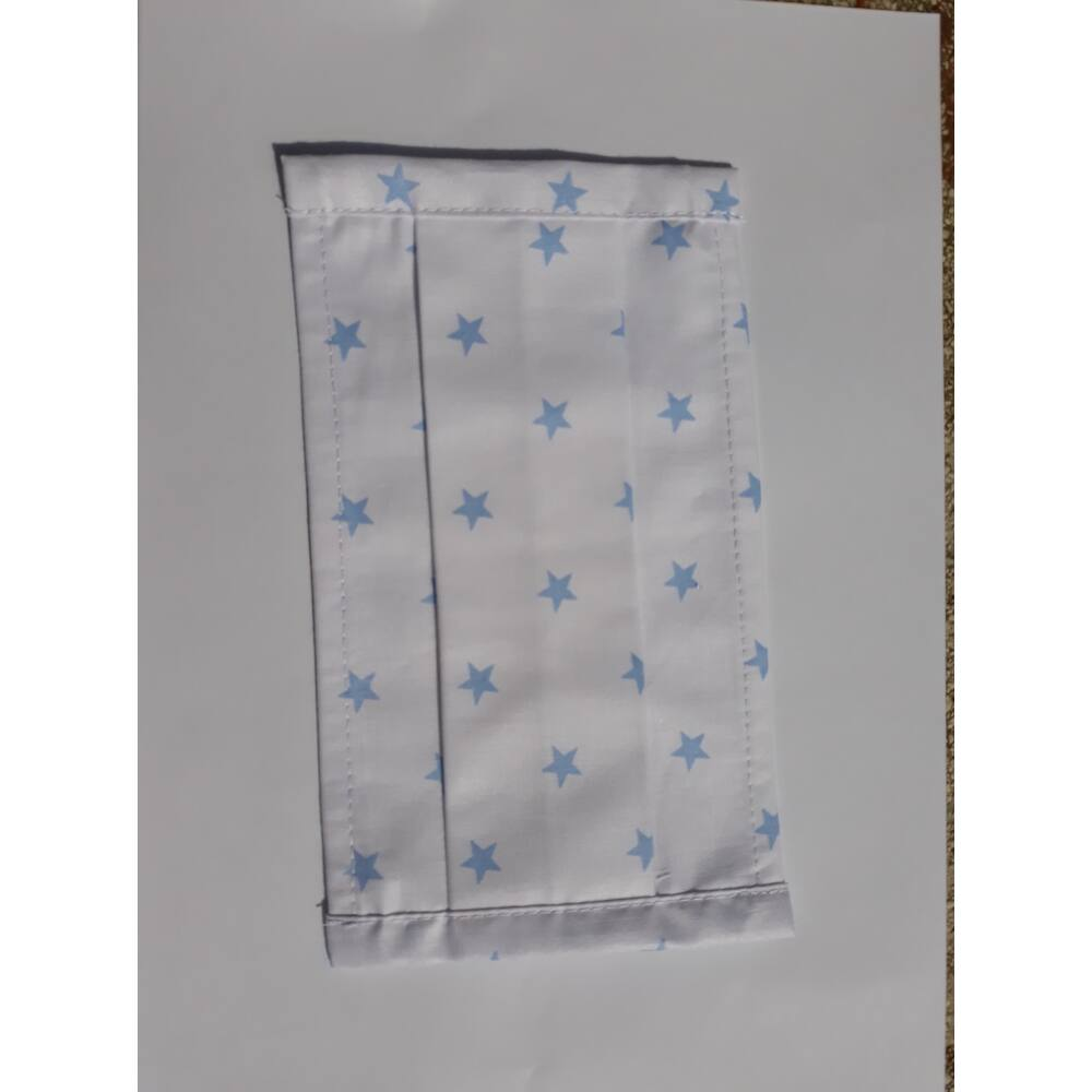 Sterilizálható, mosható szájmaszk - kék csillagos