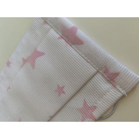 Sterilizálható, mosható szájmaszk - rózsaszín csillagos