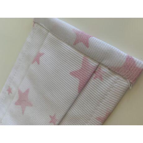 Gyerek sterilizálható, mosható szájmaszk - rózsaszín csillagos